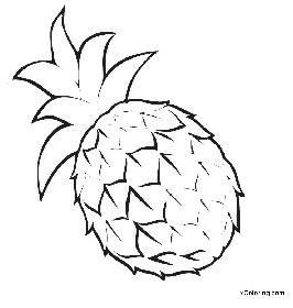 free coloring pages Ananas