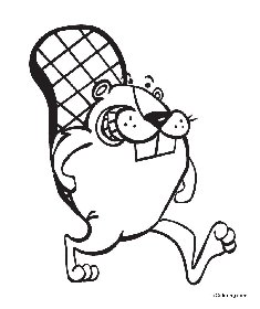 free coloring pages Beaver
