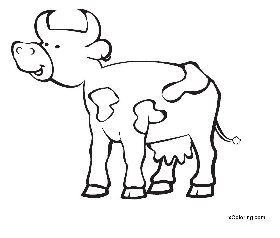 free coloring pages Cow