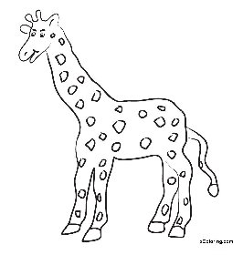 Giraffe Template Cut Out Printable Coloring Pages