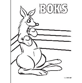 free coloring pages Kangaroo in the boxing ring